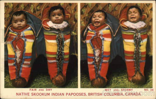 Native Skookum Indian Papooses Canada Native Americana