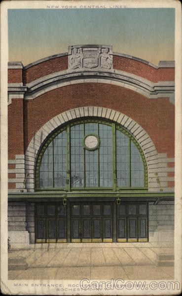 Main Entrance: Rochester Passenger Station New York