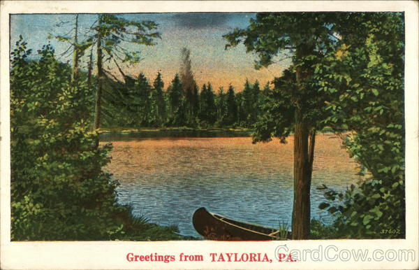 View of Lake Tayloria Pennsylvania