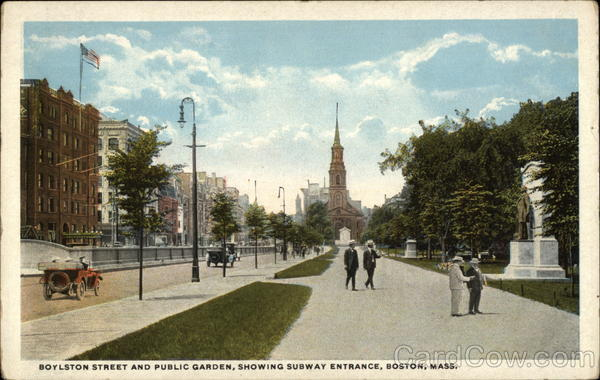 Boylston Street and Public Garden Boston Massachusetts