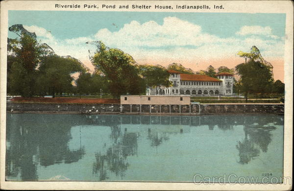 Riverside Park, Pond and Shelter House Indianapolis