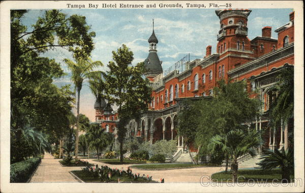 Tampa Bay Hotel Entrance and Grounds Florida
