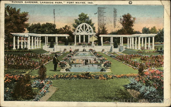 Sunken Gardens at Lakeside Park Fort Wayne Indiana
