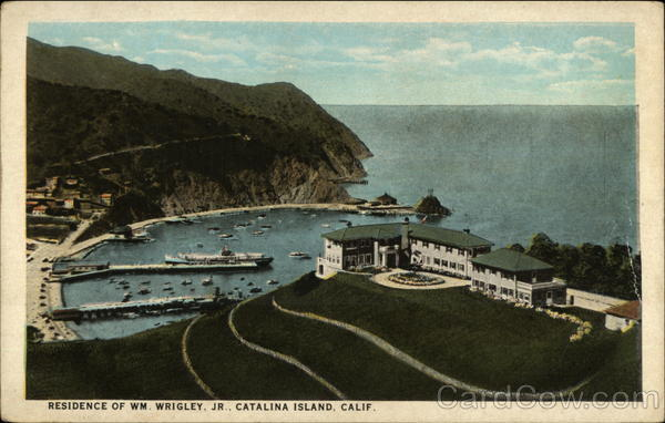 Residence of Wm. Wrigley Jr Santa Catalina Island California