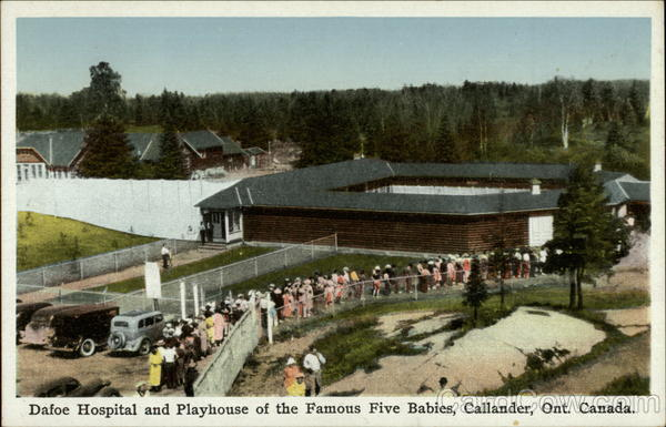 Dafoe hospital and Playhouse of the Famous Five Babies Callander Canada