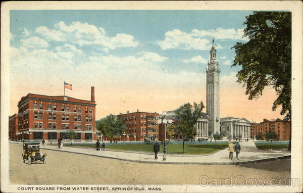 Court Square From Water Street Springfield Massachusetts