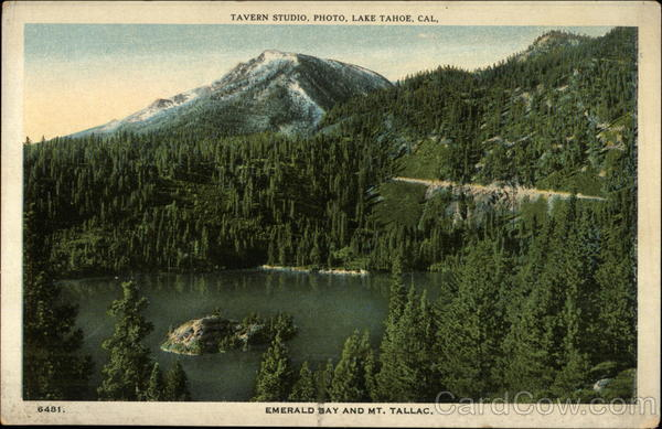 Emerald Bay and Mt. Tallac Lake Tahoe California