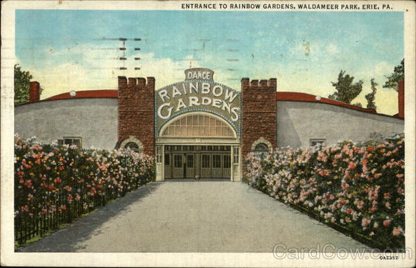 entrance to rainbow gardens waldameer park erie pa