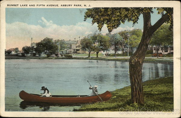 Sunset Lake and Fifth Avenue Asbury Park New Jersey