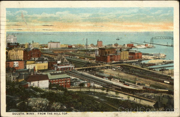 View from the hill top Duluth Minnesota