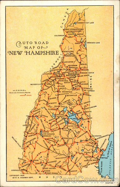 Auto Road Map of New Hampshire Maps