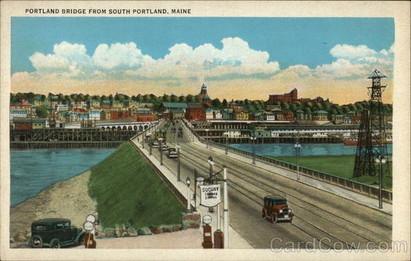 Portland Bridge from South Portland Maine