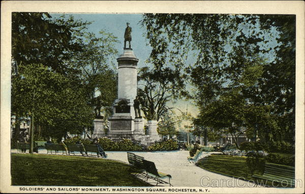 Soldier's and Sailor's Monument, Washington Square Rochester New York
