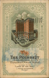 "The Pointsett Greenville, S.C. Carolina's Finest Hotel Gateway to ""Land of the Sky"""