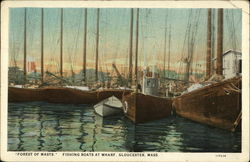 Forest of Masts, Fishing Boats at Wharf