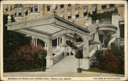 Entrance to French Lick Springs Hotel