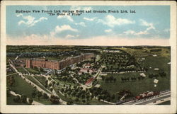 Bird's-eye view French Lick Springs Hotel and Grounds