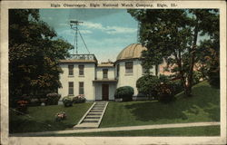 Elgin Observatory, Elgin National Watch Company Postcard