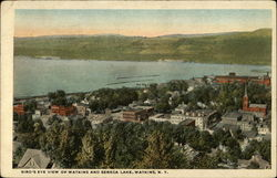 Bird's Eye View of Watkins and Seneca Lake