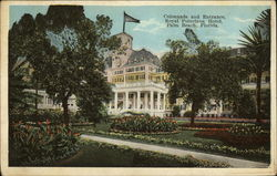 Colonnade and Entrance, Royal Poinciana Hotel