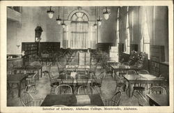 Interior of Library, Alabama College