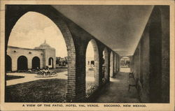 A view of the patio, Hotel Val Verde