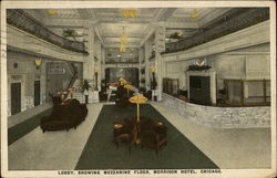 Lobby of the Morrison Hotel Postcard