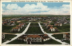 Airview of Randolph Field, West Point of the Air Postcard