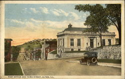 Post Office and Third Street Postcard