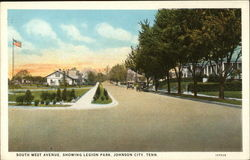 South West Avenue, showing Legion Park