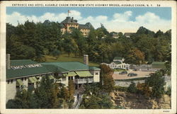 Entrance and Hotel Ausable Chasm Postcard