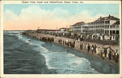 Ocean View Hotel and Waterfront Postcard