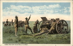 Three Inch Gun in Action, US Army