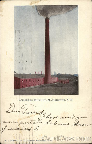 A Moskeag Chimney Manchester New Hampshire