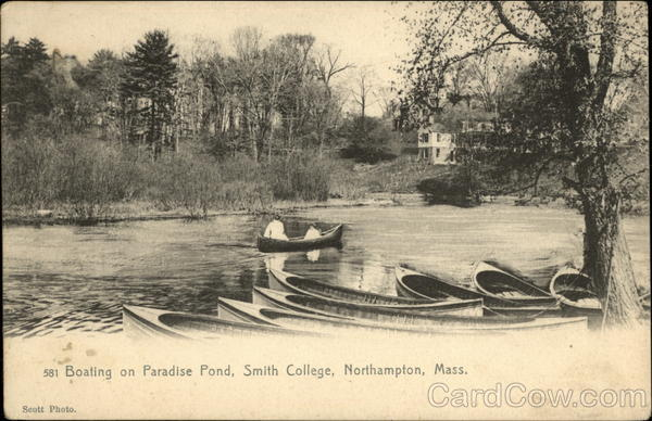 Boating on Paradise Pond, Smith College Northampton Massachusetts