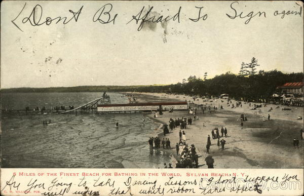 5 Miles of the Finest Beach for Bathing in the World Sylvan Beach New York