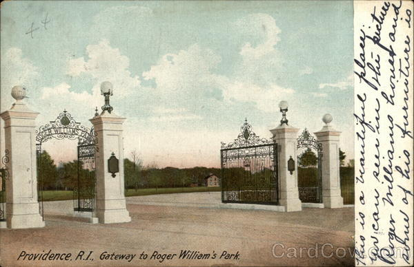 Gateway to Roger William's Park Providence Rhode Island