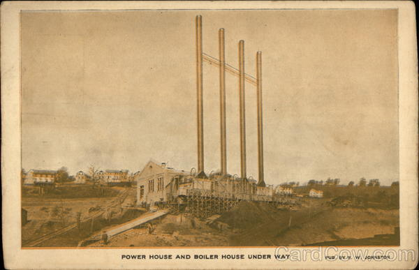 Power House and Boiler House Under Way Pittsburgh Pennsylvania
