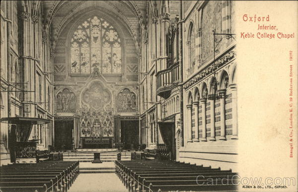 Interior, Keble College Chapel Oxford England Oxfordshire