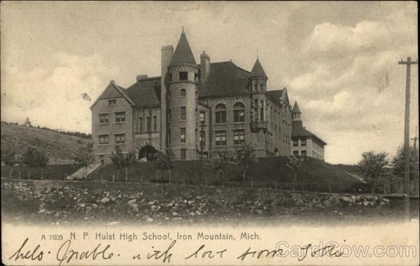 N.P. Hulst High School Iron Mountain Michigan