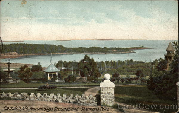 Norumbega Grounds and Shermans Point Camden Maine