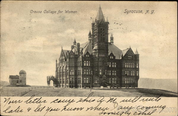 Crouse College for Women Syracuse New York