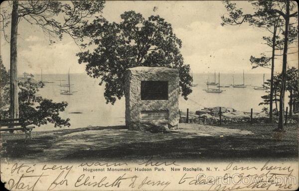 huguenot monument hudson park new rochelle ny. Black Bedroom Furniture Sets. Home Design Ideas
