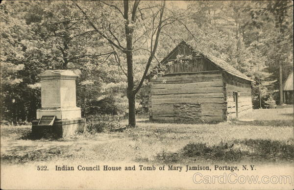 Indian Council House and Tomb of Mary Jamison Portage New York