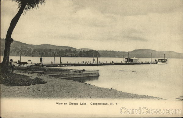 View on Otsego Lake Cooperstown New York