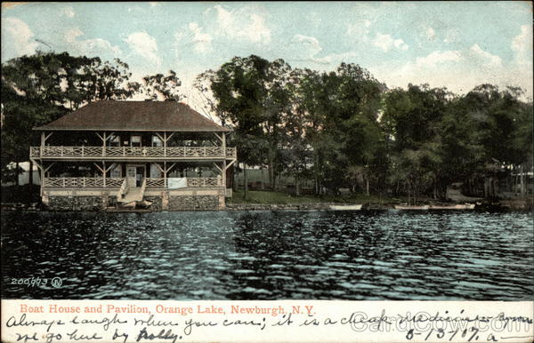 Boat House and Pavilion, Orange Lake Newburgh New York