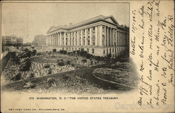 The United States Treasury Washington District of Columbia