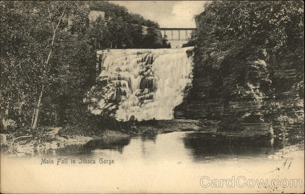 Main Fall in Ithaca Gorge New York