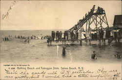 Bathing Beach and Toboggan Slide