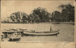 Boating Lake Postcard